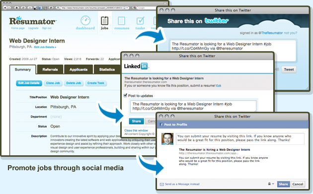 applicant tracking made social the resumator